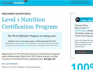 The Precision Nutrition Certification Program
