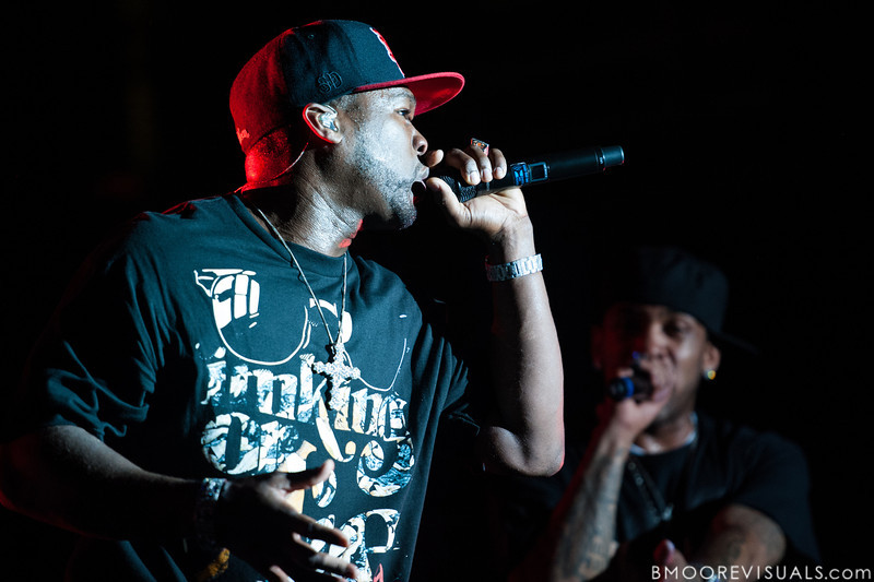 50 Cent and Lloyd Banks perform at Jannus Live in St. Petersburg, Florida on June 16, 2010