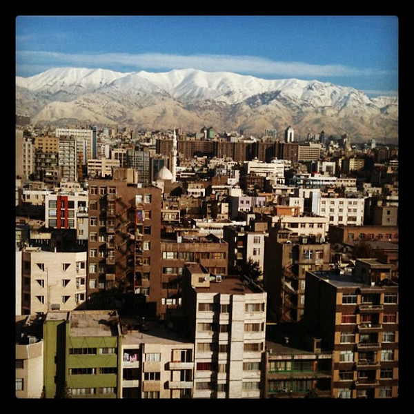 Snow-capped  mountains - Tehran, Iran
