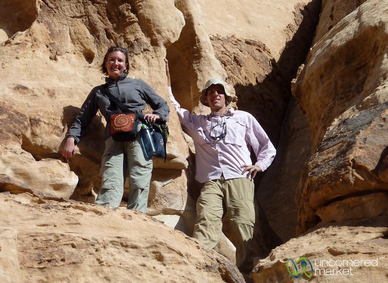 Climbing Around at Wadi Rum, Jordan