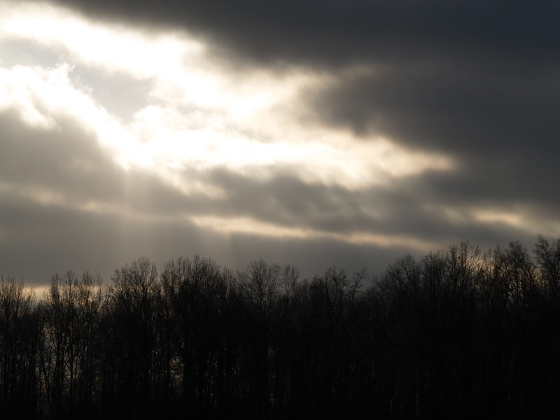 Waiting for the sun to emerge from the clouds - December 2008