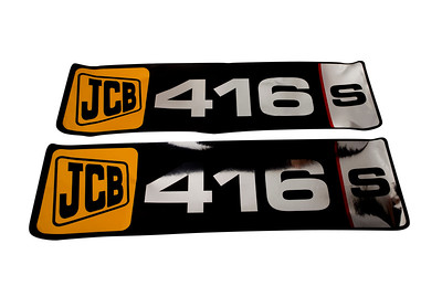 JCB 416S SERIES OLD TYPE BONNET DECAL SET