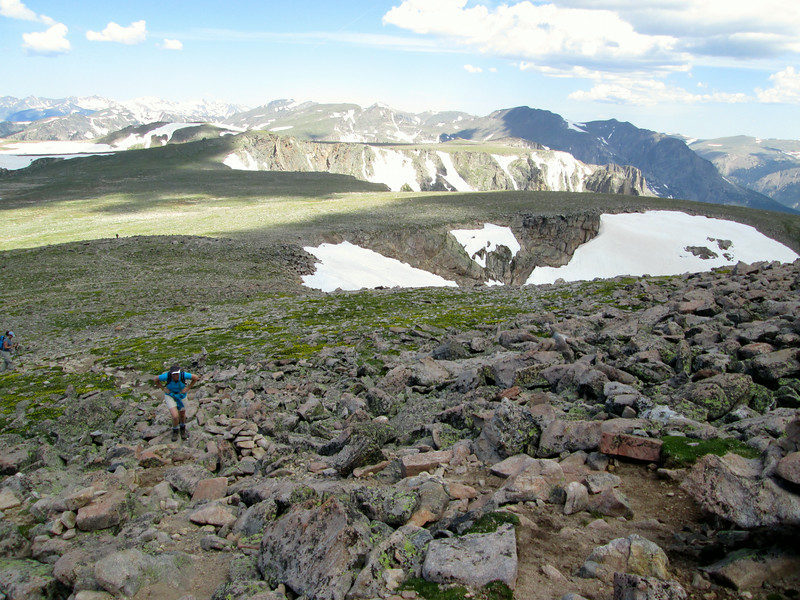 Flattop Mountain and Tyndall Glacier from Hallett approach