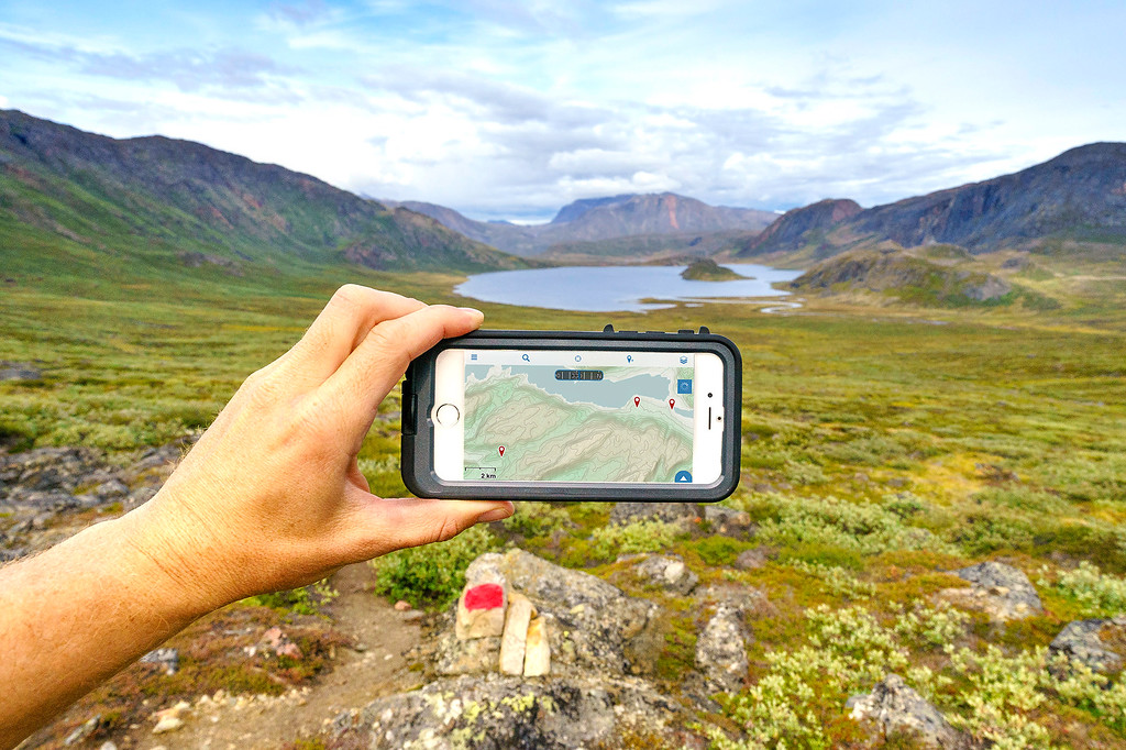 iPhone GPS Hiking