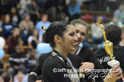 1-17-2015 Poolesville HS Varsity Poms at Damascus HS Invitational, MCPS Championship, Photos by Jeffrey Vogt Photography with Kyle Hall