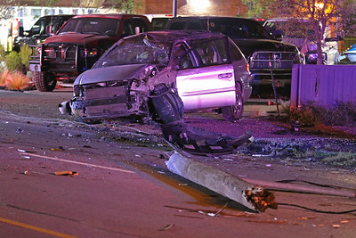 McKinney TX. Auto vs Utility pole. McDonald St @Jefferson.  8/18/18