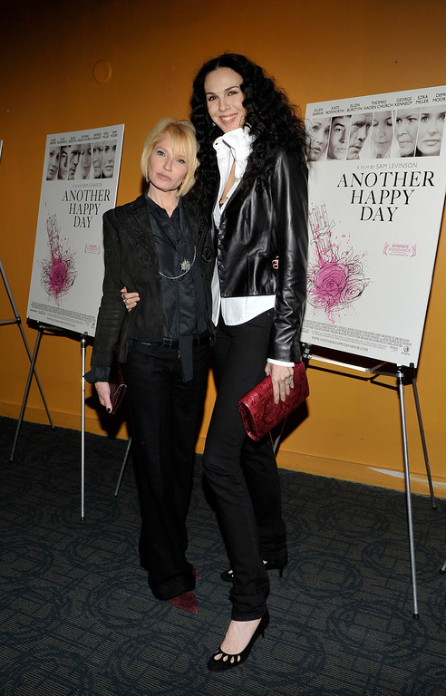 ". Ellen Barkin and L\'Wren Scott attend a screening of ""Another Happy Day\"" at Sunshine Landmark on November 14, 2011 in New York City. (Photo by Michael N. Todaro/Getty Images)"