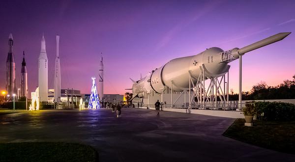 Saturn IB at Dusk in the Rocket Garden