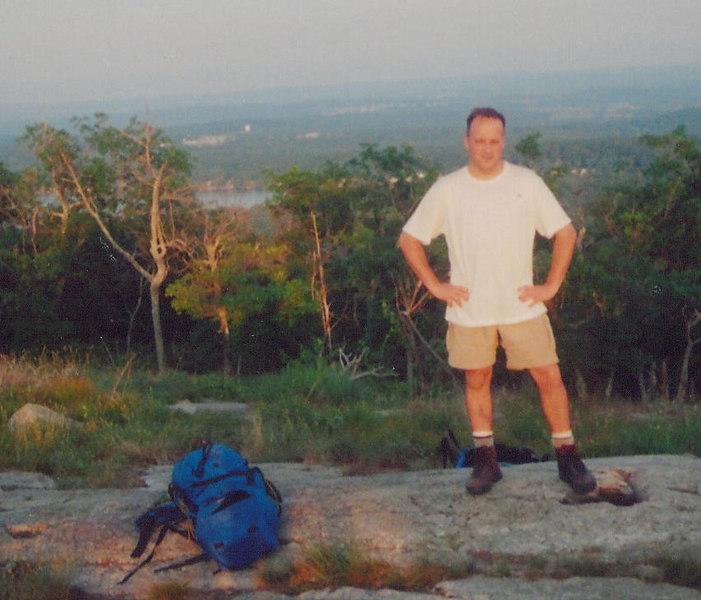 Tim striking a manly pose overlooking Culvers Lake