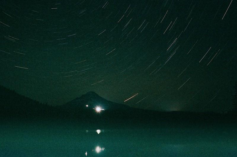 Star Trails at Trillium Lake.