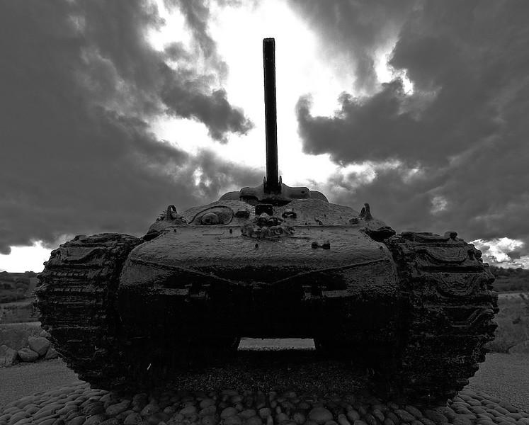 22. 'War Memorial Sherman Tank at Torcross Devon UK', by delaneyb. 9/26/07, Olympus E-410.