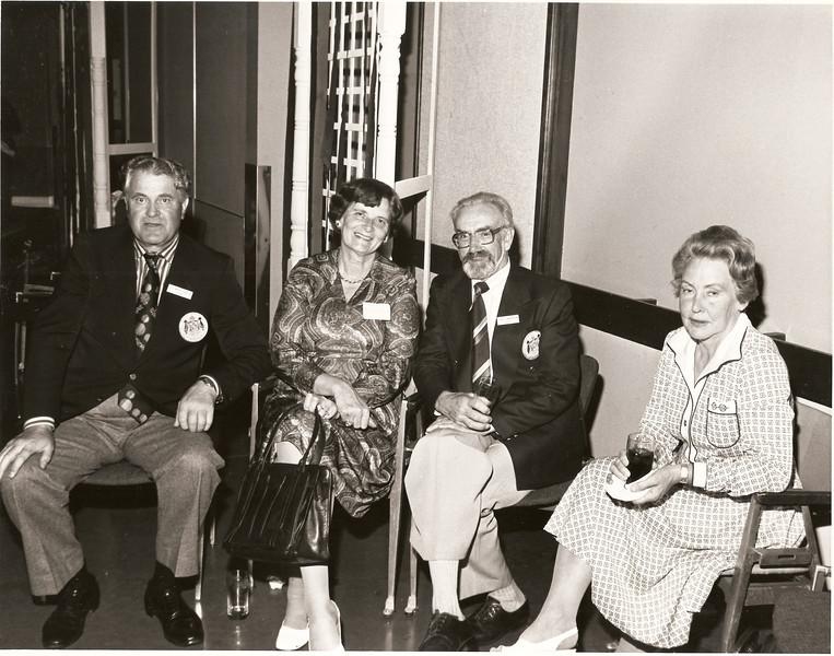 Broadmoore 1978. Heimsmót eldri kylfinga. Fv: Kristinn Bergþórsson, Alma Þórarinsson, Hjalti Þórarinsson, Ósk Sigurjónsdóttir Isebarn.