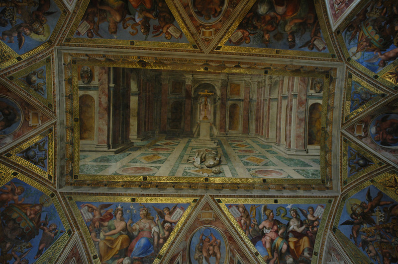 Ceiling painting in the Vatican.