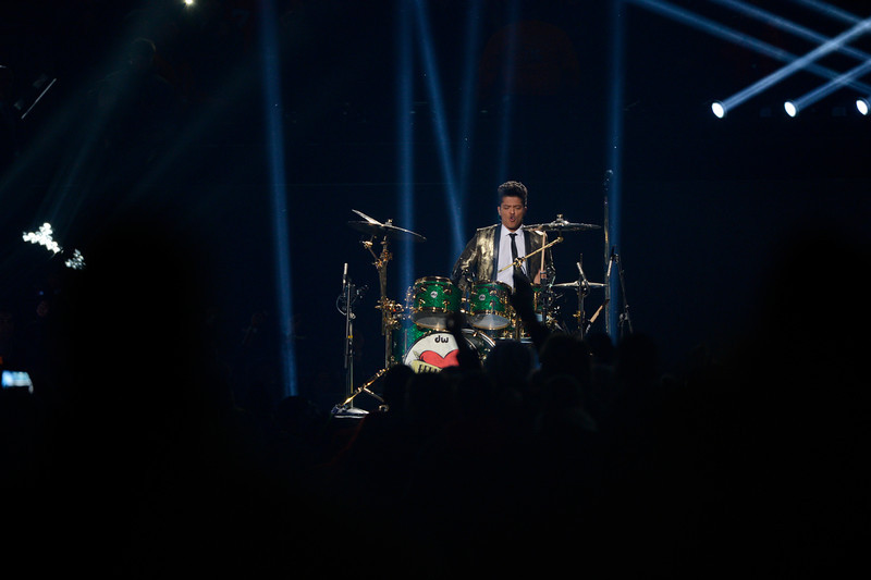 . Bruno Mars performs during the halftime show at Super Bowl XLVIII at MetLife Stadium in East Rutherford, New Jersey Sunday, February 2, 2014. (Photo by Joe Amon/The Denver Post)