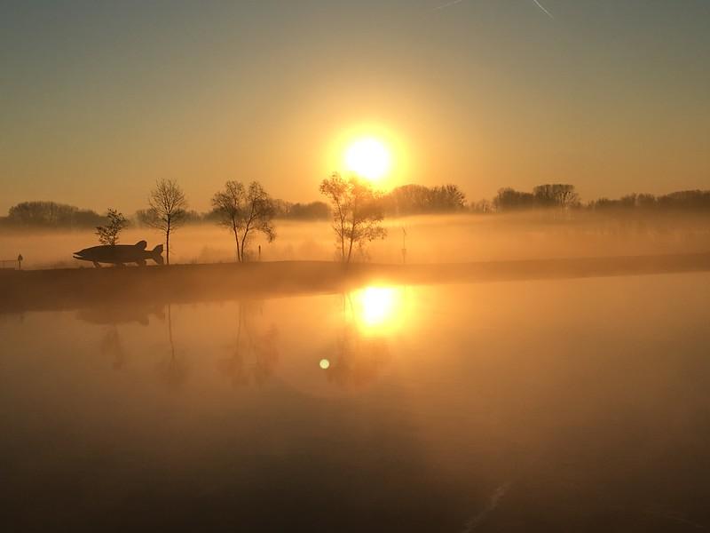 Sunrise On The Danube River