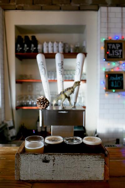 Wren House Brewing: Apricot berliner weisse, Chai Jolly, a dark honey wheat ale, Jomax coffee oatmeal stout & Wren House IPA