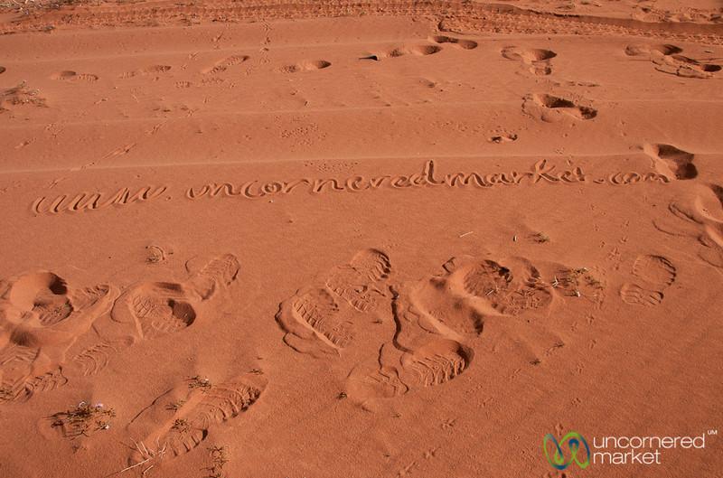 Branding in the Sand at Wadi Rum, Jordan