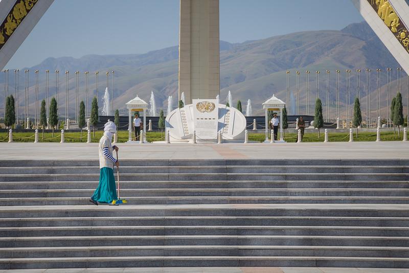 Neutrality Arch - Ashgabat, Turkmenistan