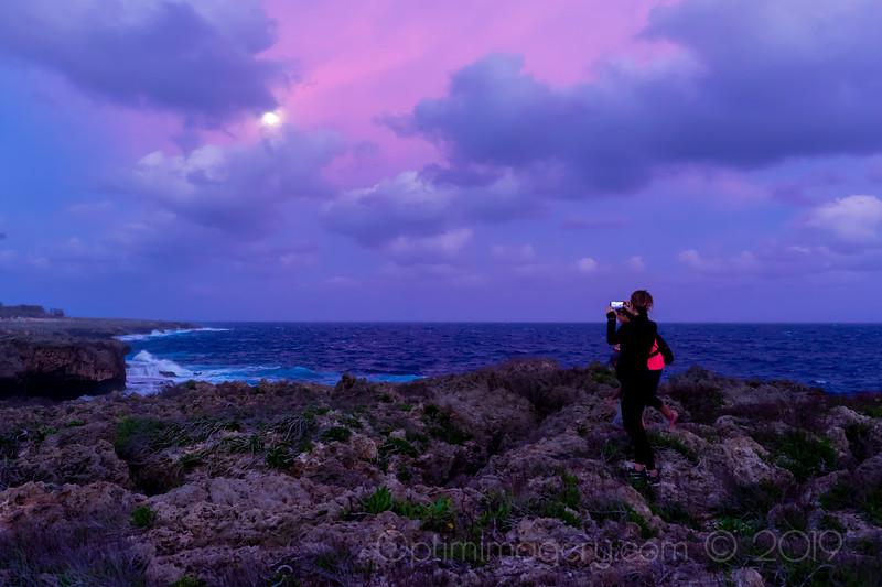 JANUARY 20, 2019: ABOVE HIDDEN BEACH FOR MOONRISE