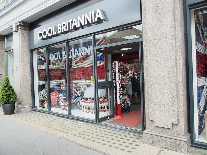 June 23/13 - Cool Britannia store at 25-27 Buckingham Palace Road