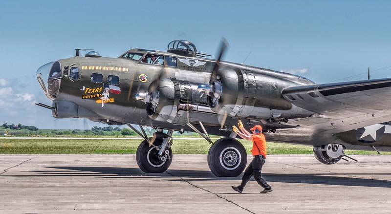 Guiding a B-17.