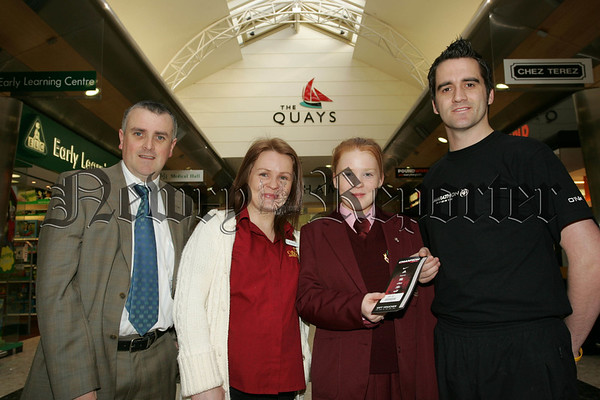 Pictured with Colin Kavanagh Deputy Manager of The Quay's Newry and Ben Trainor are the Winners of the Valentines Have a Heart competition, Eileen Toland and Clair Daly. 07W13N18