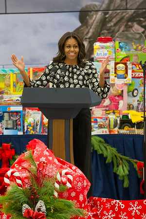 First Lady Michelle Obama  - US Marine Corps Reserve Toys For Tots Program  2015
