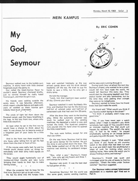 SoCal, Vol. 60, No. 86, March 10, 1969