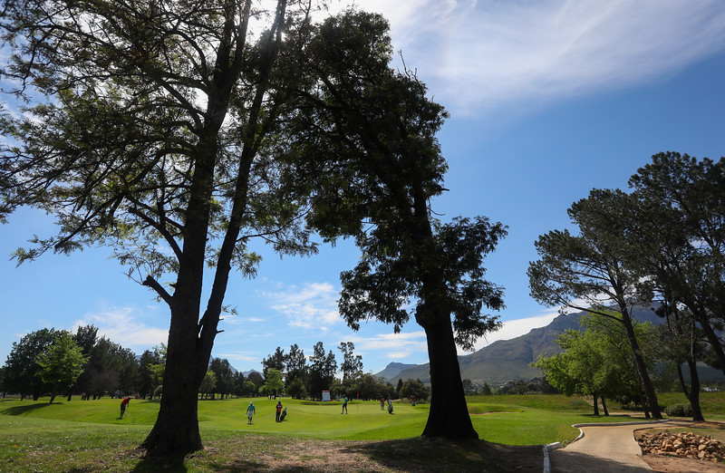 STELLENBOSCH, SOUTH AFRICA - OCTOBER 2: Hole 15 during the held at Stellenbosch Golf Club on October 2, 2018 in Stellenbosch, South Africa. EDITOR'S NOTE: For free editorial use. Not available for sale. No commercial usage. (Photo by Carl Fourie/Sunshine Tour)