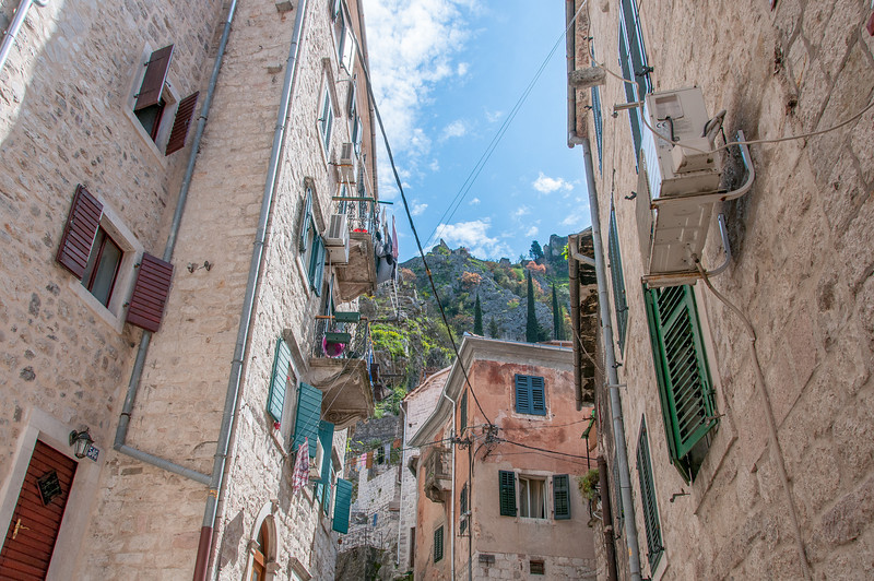 Traditional buildings in Kotor, Montenegro