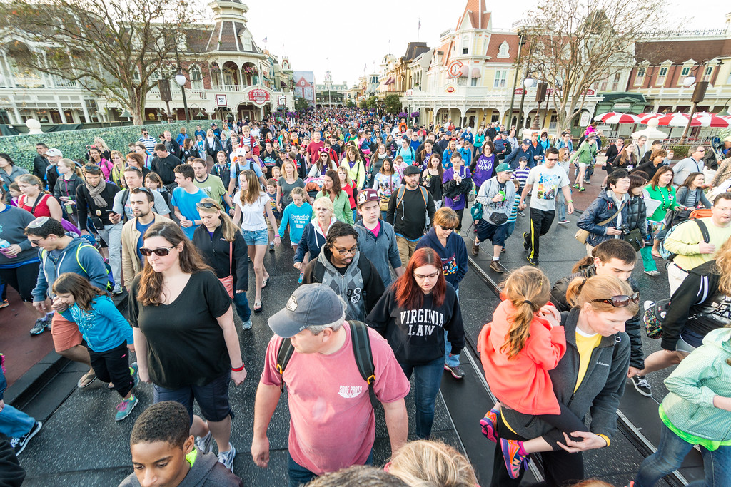 Crowds at Walt Disney World's Magic Kingdom