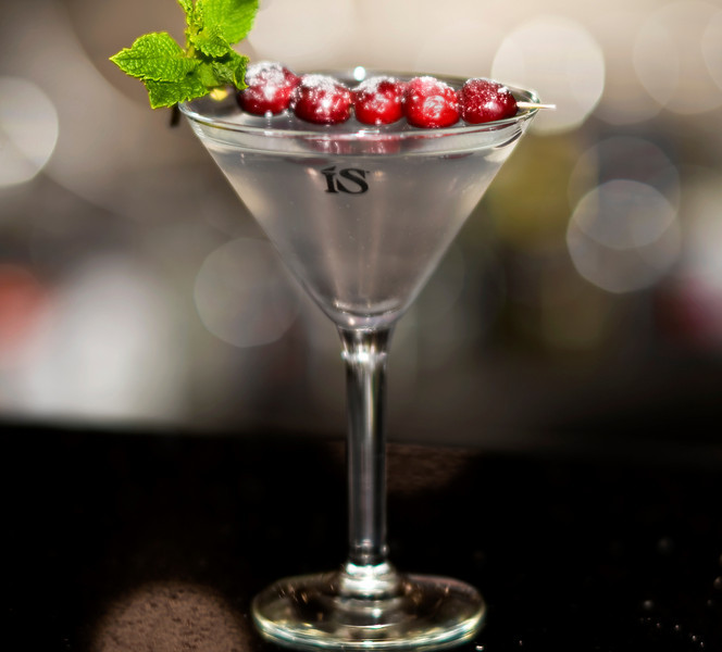 ISopolitan Martini by ISVodkaRecipe1.5 oz ISVodka.5 oz Cointreau1.5 oz White Cranberry JuiceSugar dusted Cranberry & Spring of Mint for GarnishMix ingredients in a shaker with a handful of ice. Pour into a martini glass and enjoy!Photograph by Mark BowersMartini prepared by Brady at Via Brasil in Summerlin Las Vegas.