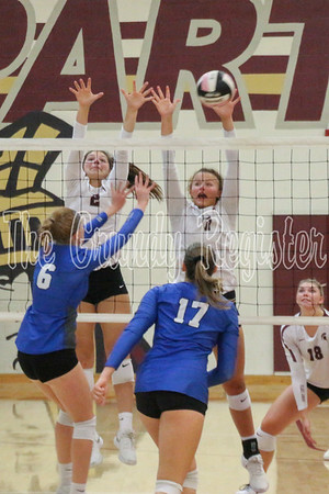 Gladbrook-Reinbeck at Grundy Center volleyball (9/17/19)