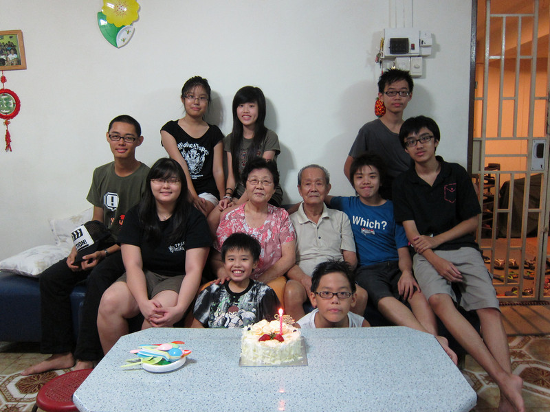 9 grandchildren, with grand parents