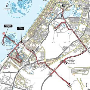 Tour of Dubai Stage 2: World Trade Center > Palm Island Atlantis, 121kms