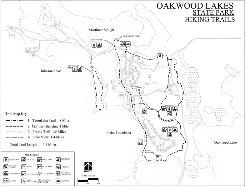 Oakwood Lakes State Park (Trail Map)
