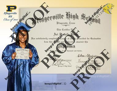 2012 Pflugerville HS Keedjit Diploma Proof Photos