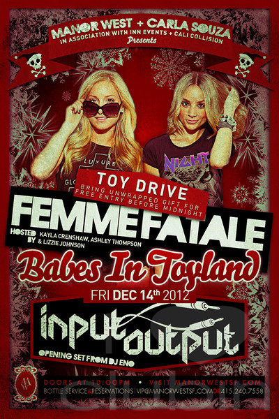Babes In Toyland @ Manor West 12.14.12