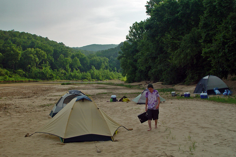 The southern end of our campsite. The two closest tents are Scott and Nate. I think I buffered them from the probably 60 mile an hour winds that hit in the middle of the night. My tent almost blew over, but they said it wasn't too bad for them. :)