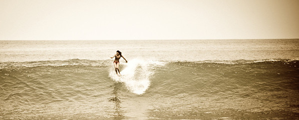 "Took this shot ""Old School""  ...  added some grain  :)   ...  Yes, that's a ""Hang Ten"" !"