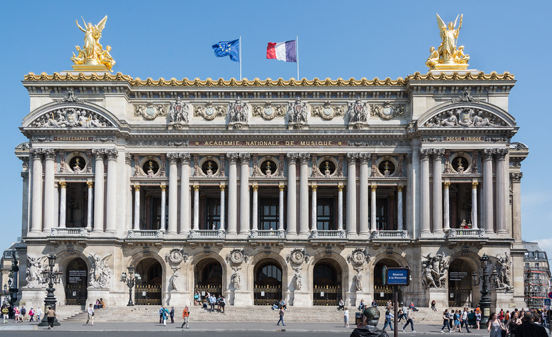"The Palais Garnier, aka The Opera, setting for the story of ""The Phantom of the Opera"""