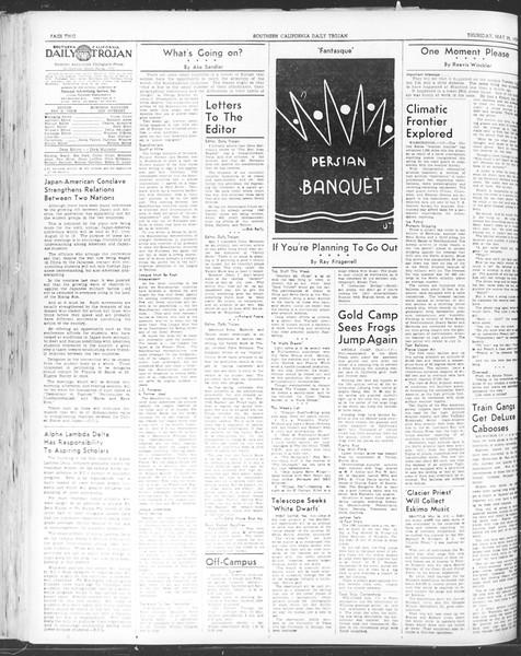 Daily Trojan, Vol. 30, No. 144, May 25, 1939