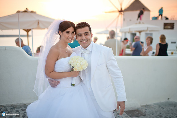 Santorini wedding photographer, the wedding of Joanna and Chadi