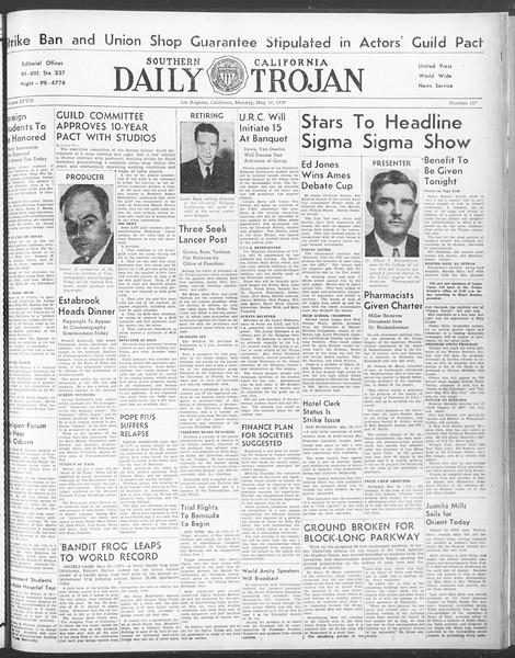 Daily Trojan, Vol. 28, No. 137, May 17, 1937
