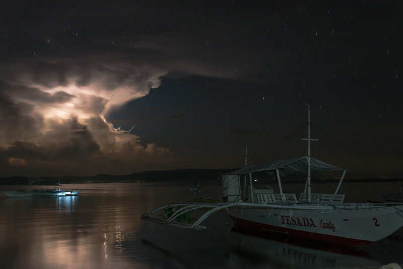 Lightning over Bohol