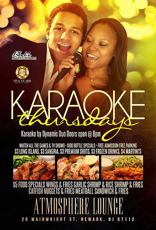 Karaoke  Thursdays Atmosphere lounge