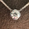 0.67ct Transitional Cut Diamond Pendant Clover Setting 16