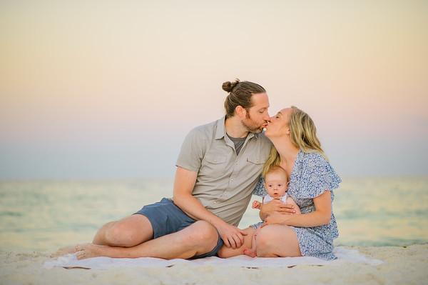 Anna Maria Island Sunrise Baby Family Photos