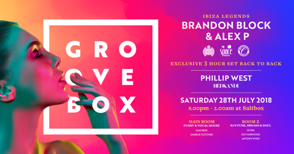 Groove Box Launch Party 28/7/18 @ SaltBox