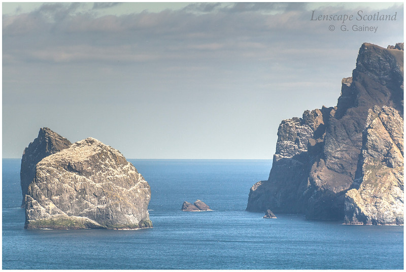 Stac an Armin, Stac Lee and Boreray from The Gap on Hirta (2)